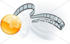 Film strip awards on white Stock Illustration