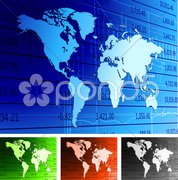 Global economy world map background. - stock photo