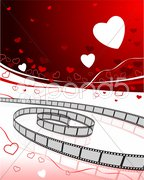 Romantic movies background Stock Illustration