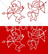 Cupid Angel Valentine's Day design background Stock Illustration