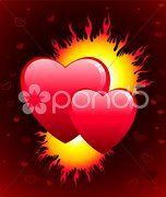 Flame of love Valentine's Day background Stock Illustration