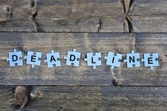 Puzzle with word Deadline Stock Photos