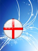 England Flag Buttons on White and Black Background - stock illustration