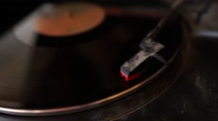 Record Spinning with no audio Stock Footage