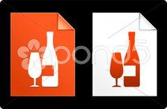Champagne on Paper Set Stock Illustration