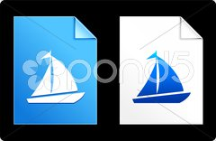 Cruise on Paper Set Stock Illustration