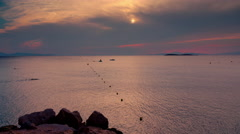 4K sunset seascape timelapse Greek island,summer. Stock Footage