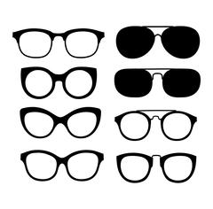 Vector glasses isolated on white background - stock illustration