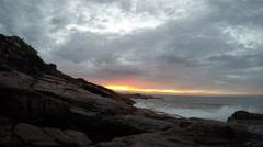 Timelapse: Sunrise in the Atlantic Sea Stock Footage