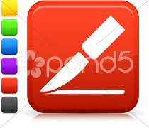 Surgical scalpel icon on square internet button Stock Illustration