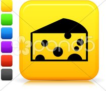 Swiss sheese icon on square internet button Stock Illustration