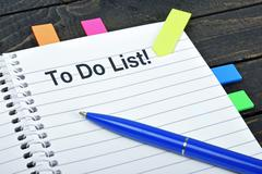 To do list on notepad Stock Photos