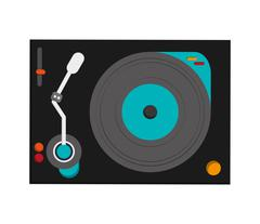 Small turntable icon Stock Illustration
