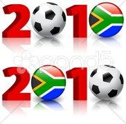 2010 Soccer Football Match Stock Illustration