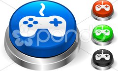Controller on Internet Button - stock photo