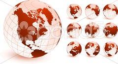 globes Original Vector Illustration - stock photo