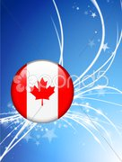 Canada Flag Buttons on White and Black Background Stock Illustration