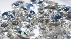 Close up of beautiful shining crystals Stock Footage