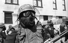 KKK Parade with protestors 1980 Kokomo, Indiana Kuvituskuvat