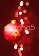 Holiday background with Christmas Ornament and snowflakes Stock Illustration