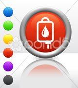 IV blood Icon on Internet Button Stock Illustration