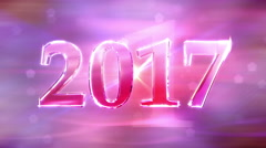 New Year 2017 Loopable Background Stock Footage