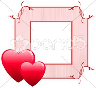 Valentine's Day Love Frame Stock Illustration