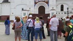 Assumption Cathedral in Yaroslavl in Russia Stock Footage