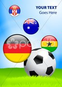 2010 Group D World Cup Stock Illustration