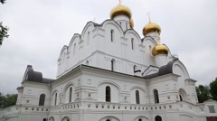 Orthodox Assumption Cathedral Yaroslavl city in Russia Stock Footage