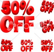 50% off Discount sale sign Stock Illustration