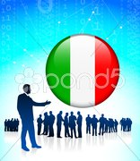 Business Leader with Italy Internet Button Stock Illustration