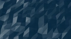 Blue Geometric Shapes Moves slowly together Stock Footage