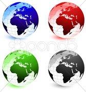 Globe Set Stock Photos