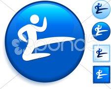 Karate Icon on Internet Button Stock Photos