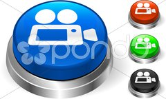 Video Camera on Internet Button Stock Photos