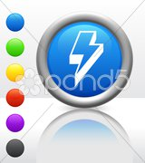Lightning Bolt Icon on Internet Button Stock Photos