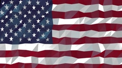Abstract geometric Flag of United States, seamless looping Animation Stock Footage