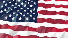 Flag of USA 3D Portrait View Animation Stock Footage