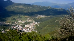 Roccaraso, small mountain town of Abruzzo, Italy Stock Footage