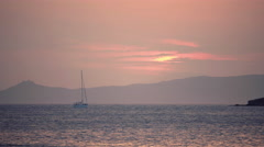 4K iconic beautiful seascape sunset/dusk,Greek islands Stock Footage