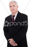 Portrait of grey-haired mature business man Stock Photos