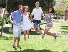 Group of young friends having fun Stock Photos