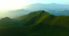 The fog of the mountain sunrises Stock Footage