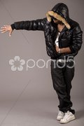 Black african rap performer Stock Photos