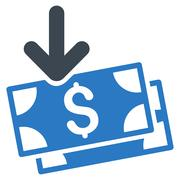 Get Banknotes Flat Vector Icon Stock Illustration