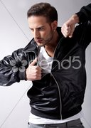 Smart male model giving movement Stock Photos