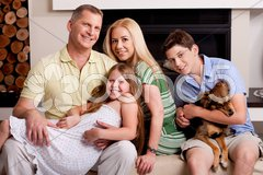 Lovable family of five - stock photo