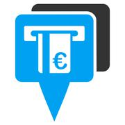 Euro Atm Pointers Flat Vector Icon Stock Illustration