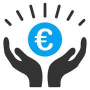 Euro Prosperity Flat Vector Icon Stock Illustration